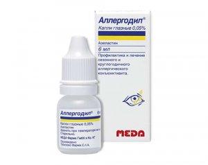 Аллергодил глазные капли: фармакологические свойства, состав и форма выпуска, способ применения, стоимость и эффективность лекарства, глазные капли аллергодил
